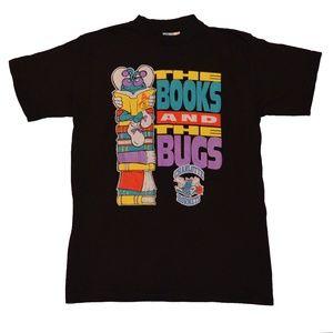 Vtg Charlotte Hornets Books and the Bugs tshirt